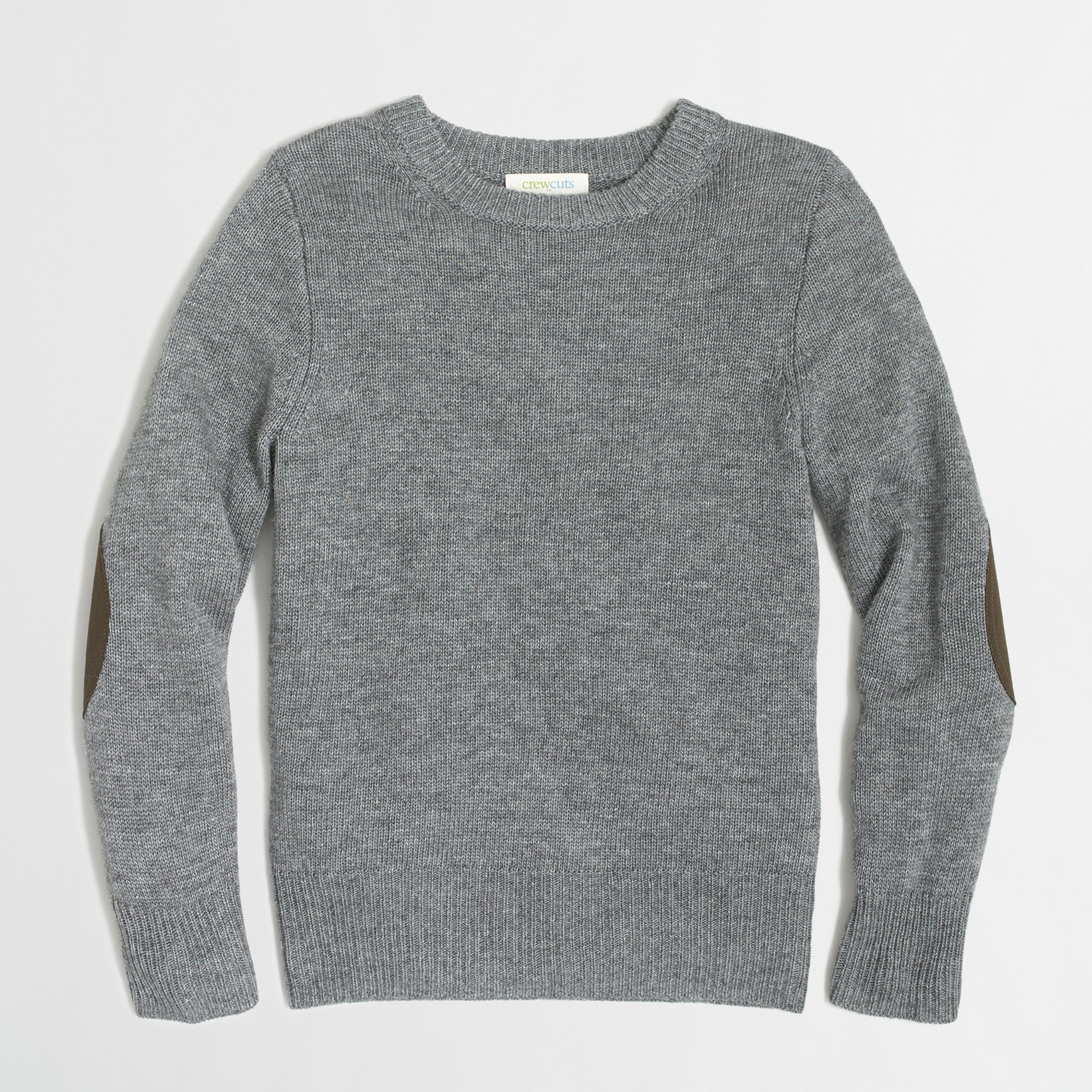 Boys' elbow-patch crewneck sweater : FactoryBoys Crewnecks | Factory