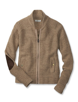 Elbow Patch Sweater / Elbow-Patch-Detail Zip Sweater -- Orvis