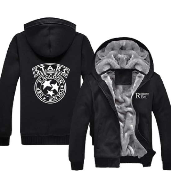 Resident Evil S.T.A.R.S Hoodies Special Tactics And Rescue Logo Zip