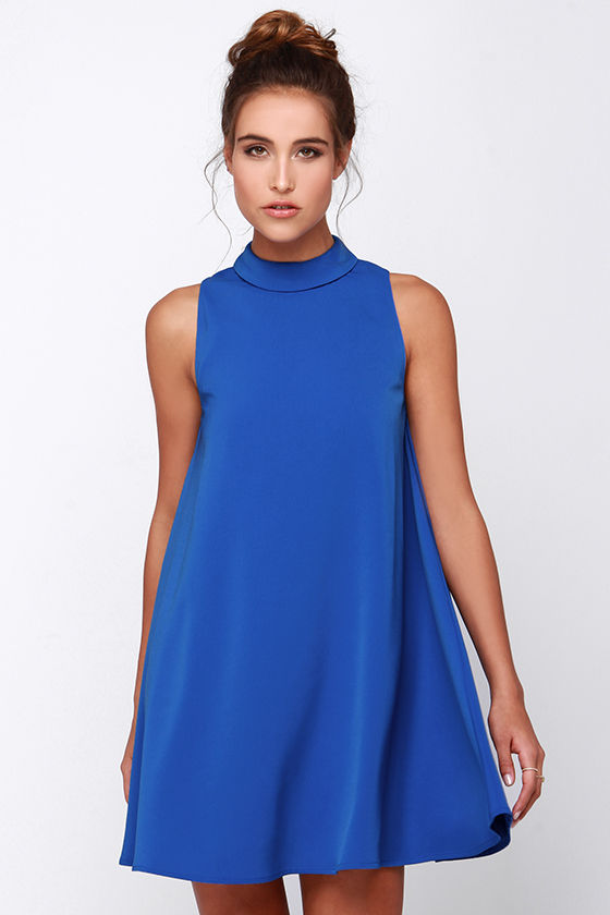 Cute Blue Dress - Sleeveless Dress - Swing Dress - $77.00