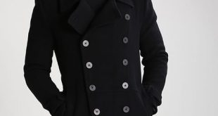 Men's Tigha Hannes - Classic Coat - Black - Jackets and Coats | www