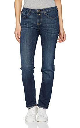 Tom Tailor Women's Alexa Straight Jeans, Blue (Dark Stone Wash Denim