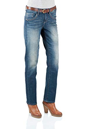 Tom Tailor Damen Jeans 6201170.09.70 Straight Alexa stone blue