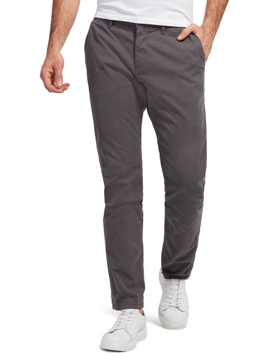 Trousers - Tom tailor men's solid travis slim fit chinos   Tom Tailor
