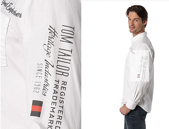 Tom Tailor shirts - Fonts In Use