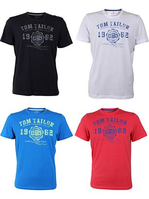 Tom Tailor Round Neck T-Shirt Logo Various Colours + Color Variants