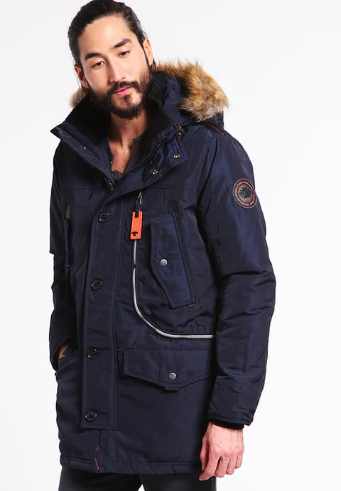 Men's Tom Tailor Stan - Winter Coat - Knitted Navy - Jackets and