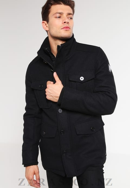 Romantic Latest fashion for men tom tailor winter jacket - black