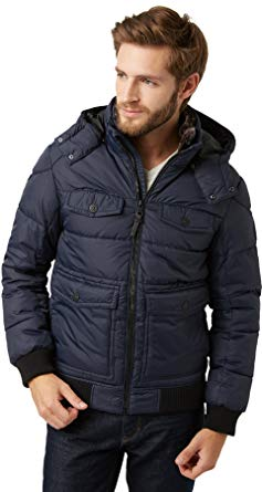 TOM TAILOR Men winter jacket blue XXL: Amazon.co.uk: Clothing