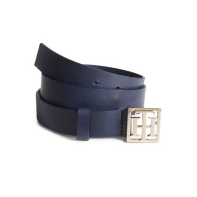 TH Buckle Leather Belt | Tommy Hilfiger