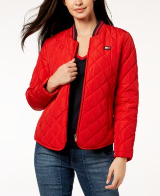 Tommy Hilfiger Quilted Bomber Jacket & Reviews - Jackets & Blazers