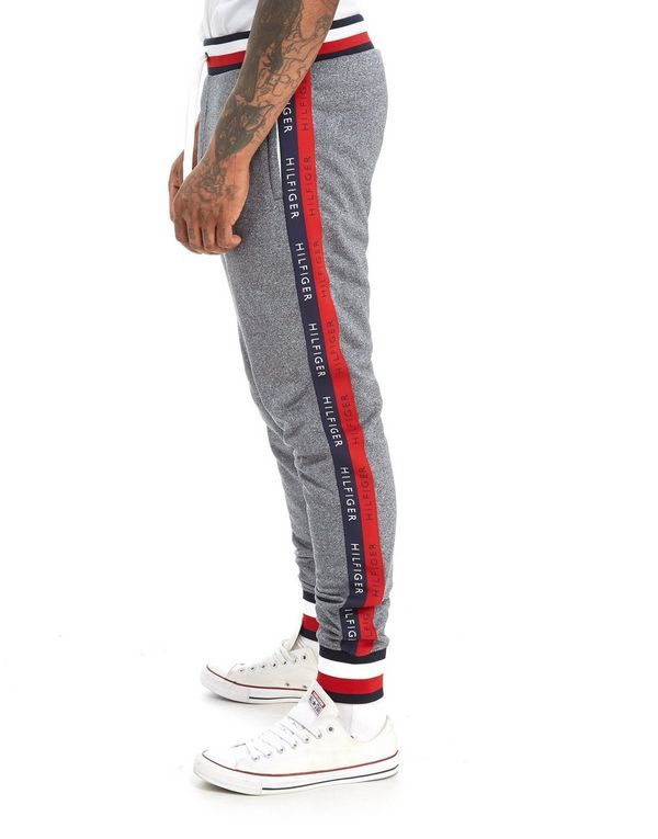 Tommy Hilfiger Tech Terry Tape Pants Grey Men Breathable Casual