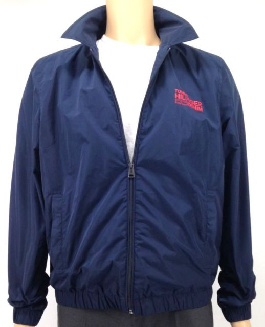 Buy Tommy Hilfiger Men's Blue Red Windbreaker Coat Waterproof Jacket