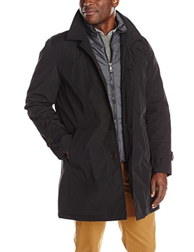 Tommy Hilfiger Men's Poly-Twill Trench Coat - Men Fashion Now