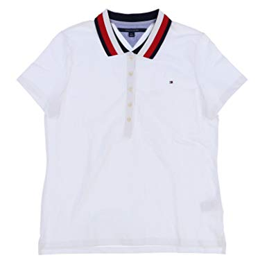 Tommy Hilfiger Womens Stretch Mesh Polo Shirt at Amazon Women's
