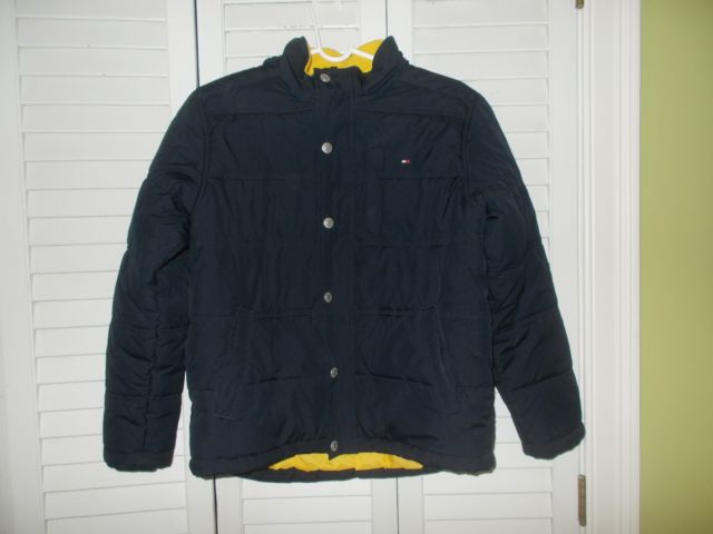 Tommy Hilfiger Boys Jacket Navy Blue Size L 16-18 | eBay