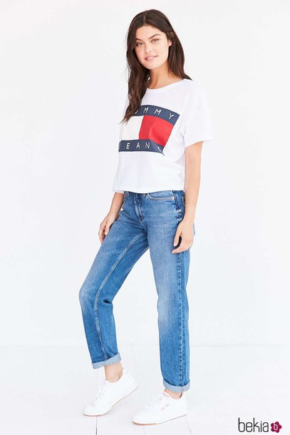 t-shirt, tommy jeans, style, girl, white, tommy hilfiger, camisa