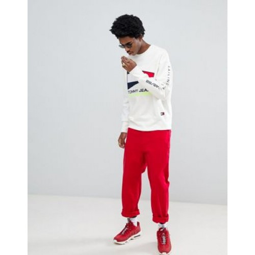Tommy Jeans 90s Sailing Capsule flag logo crew neck sweatshirt in
