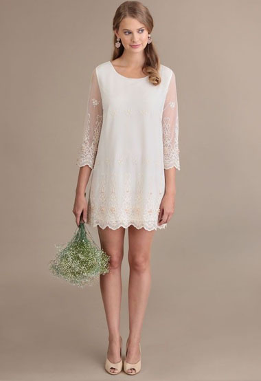 Alessia Tunic Dress By Darling UK - Green Wedding Shoes