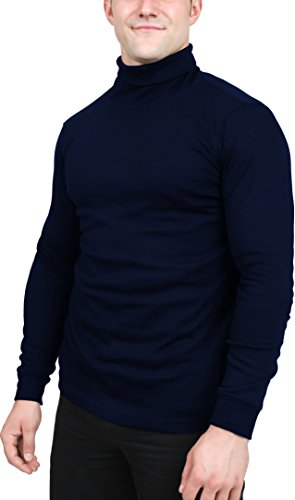 Turtleneck Shirts For Men Long Sleeves Tailored Comfort Fit by