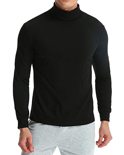 MODCHOK Men's Turtleneck T-Shirt Long Sleeve Pullover Thermal