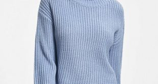 29% OFF] 2019 Chunky Turtleneck Sweater In BLUE ONE SIZE | ZAFUL