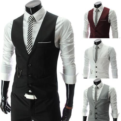 2019 Men Vests Outerwear Mens Vest Man Casual Suits Slim Fit Stylish