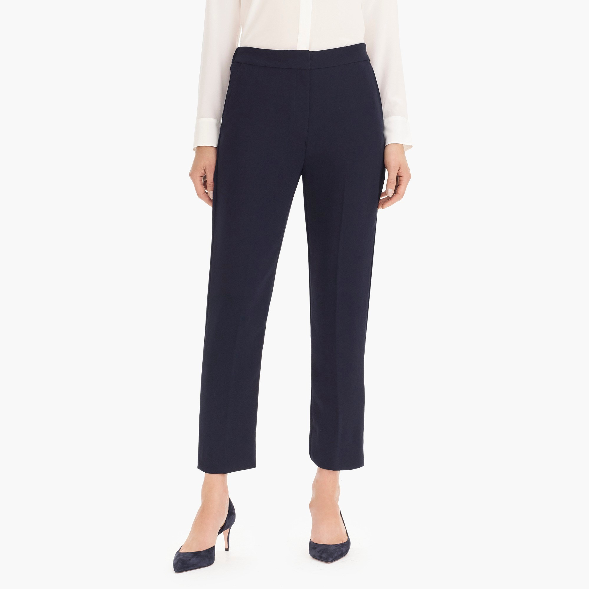 Pull-on easy pant in matte crepe - Women's Pants | J.Crew
