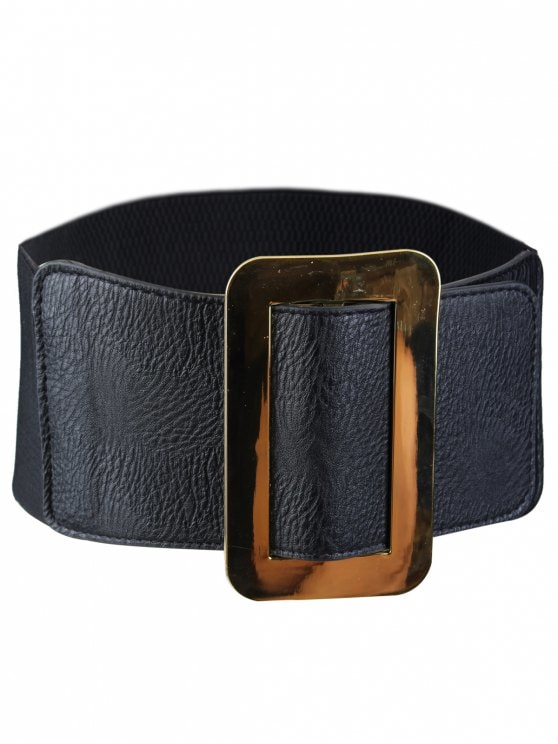 19% OFF] 2019 Vintage Metallic Buckle Faux Leather Wide Waist Belt