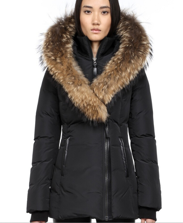 mackage Womens parka Winter Down Jacket Fashion Hooded short down