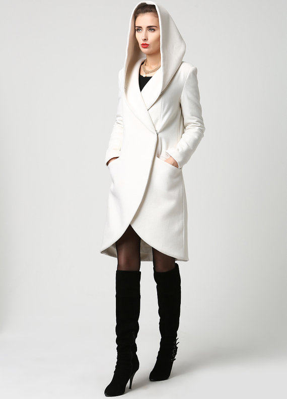 hooded winter coat - Stacha Styles