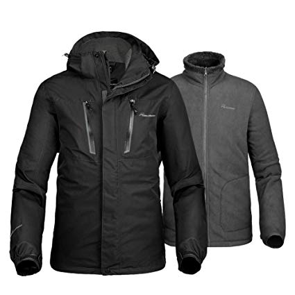 Amazon.com : OutdoorMaster Men's 3-in-1 Ski Jacket - Winter Jacket