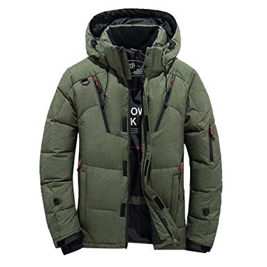 Goose Down Jacket Men Waterproof.Men Boys Casual Warm Hooded Winter