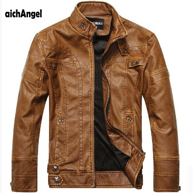 aichAng Motorcycle Leather Jackets Men Autumn Winter Leather