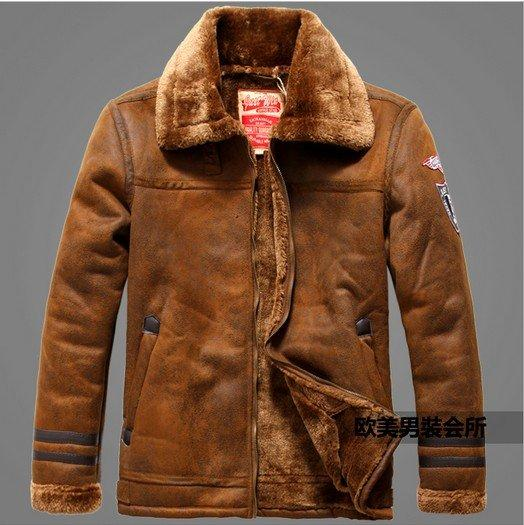 Winter leather jackets Men Faux Fur Coats casual motorcycle leather ja
