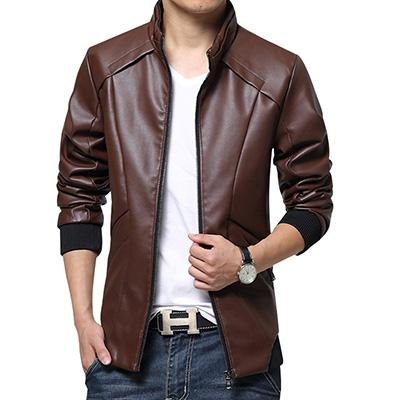 HCXY 2017 New Leather Jackets Men Autumn Winter Leather Clothing cloth