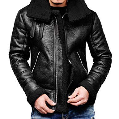 Amazon.com: Mens Autumn Winter Warm Coat Faux Fur Lined Lapel High