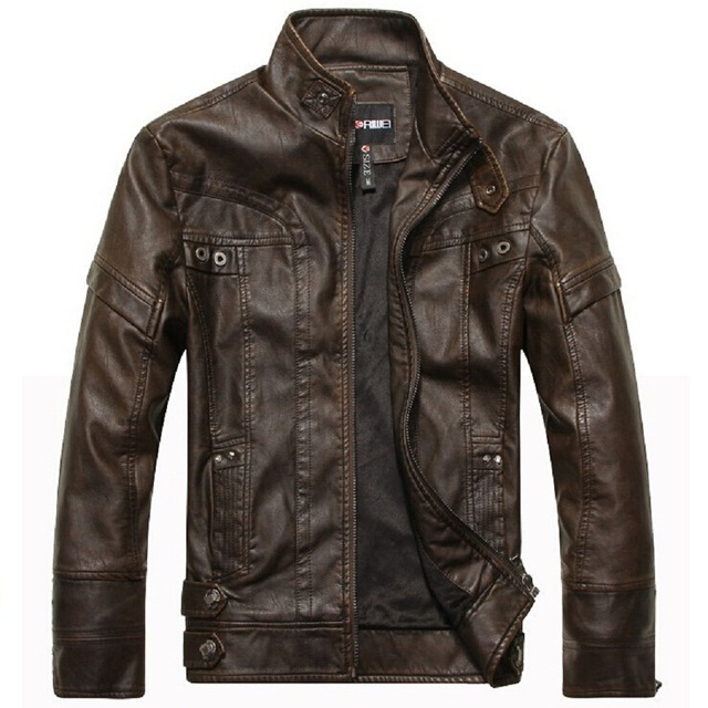 New fashion brand bomber jacket mens leather jacket autumn& winter