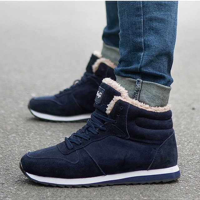 Winter Boots Men Ankle Boots Warm Winter Shoes Men Boots Tennis