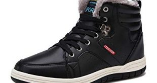 Amazon.com | Orlasha Men Winter Snow Boots Casual Shoes High Top Non