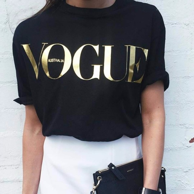 S 4XL Fashion Brand T Shirt coco channel Women VOGUE Printed T shirt