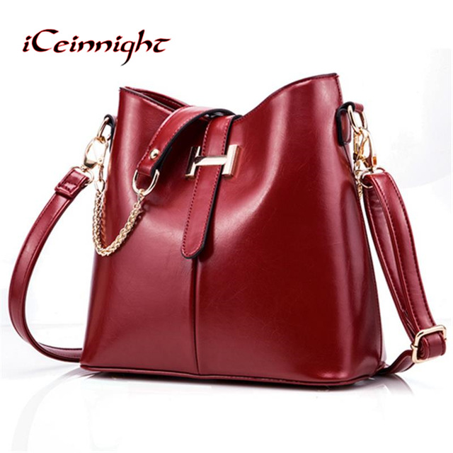 iCeinnight 2017 new women's bag fashion women's handbag PU leather