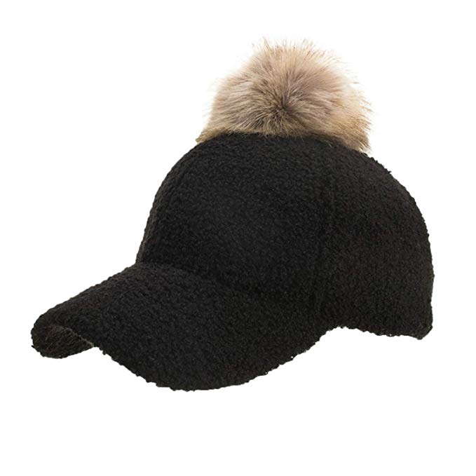 XuanHan Winter Women's Caps Wool Baseball Cap Black Tactical Hat