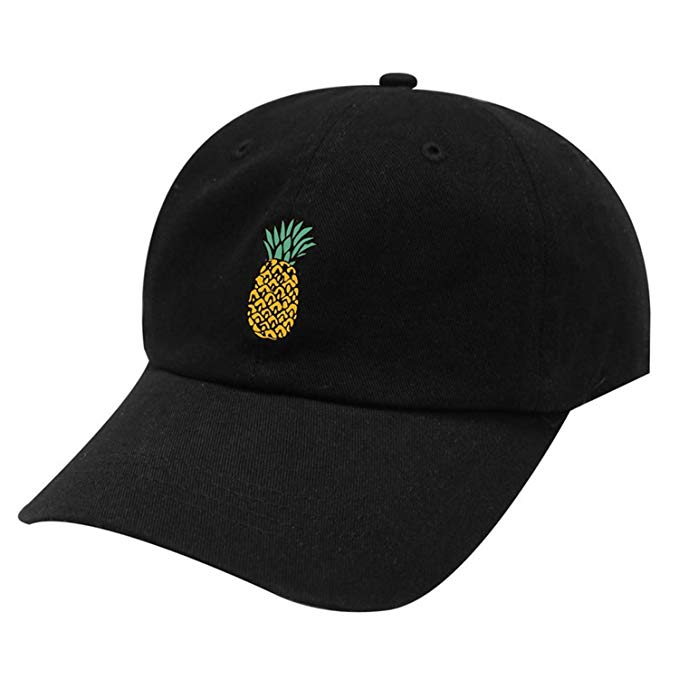 Spring Women's Cap Snapback 3D Pineapple Pattern Printed Hat Men's