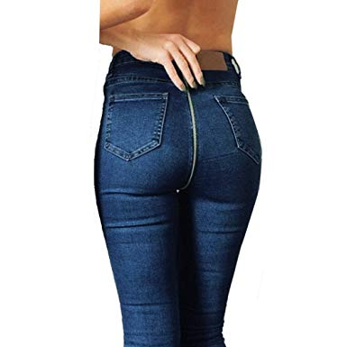 Hot Sale!! Women High Waisted Jeans, Lelili Sexy Back Zipper Stretch