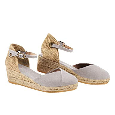 Amazon.com: Seraih Womens Wedges Shoes Espadrille Canvas Upper Ankle
