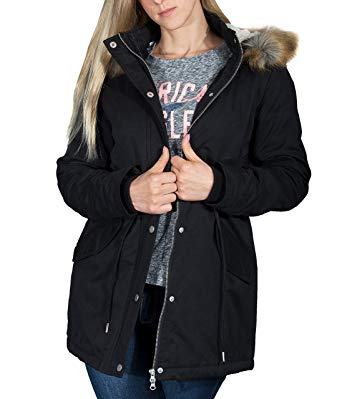 BetterStylz HagforceBZ Women's Sherpa Parka Vegan Winter Coat 1Hood