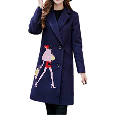 Amazon.com: Winter Woolen Coat Women 'S Long Section Coats Fashion