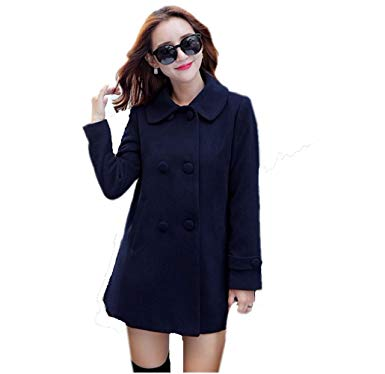 Amazon.com: Women Woolen Coats Elegant Women Winter Long Jacket