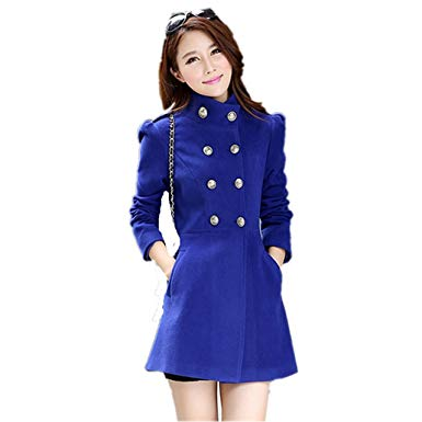 Amazon.com: Women Woolen Coats Fashion Long Women Winter Jacket